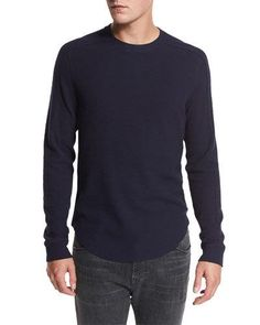 Raw-Edge Crewneck Sweater