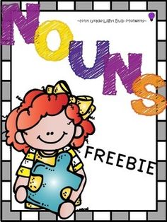 "FREE Practice pages for nouns, pronouns, plural nouns, and possessive nouns. Two word lists are also included.... Follow for Free ""too-neat-not-to-keep"" teaching tools & other fun stuff :)"