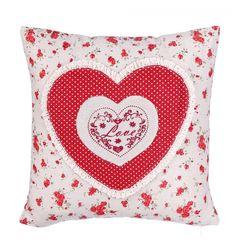 Cojín Corazón relieve Love rojo