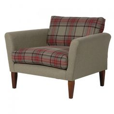 Tartan Loveseat from Alexander and Pearl Tartan Chair, Unique Furniture, Contemporary Furniture, Bedroom Furniture, Take A Seat, Love Seat, Snug Room, Morris, Chairs