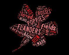 In Flanders Fields - John McCrae :wordart