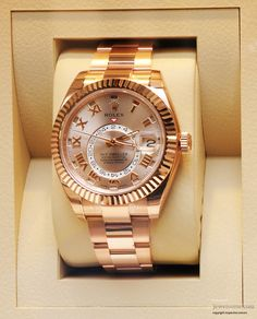 Rolex Oyster Perpetual Sky Dweller watch #jewellery