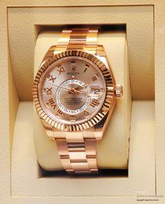 Rolex Oyster Perpetual Sky Dweller watch #jewellery