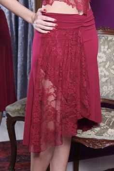 Jersey Lace Skirt (In Many Colours)