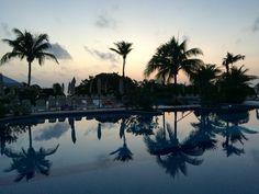 Mexique vacances piscine nuit palmier