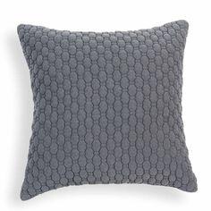 Coussin en tissu gris 60 x 60 cm ALDEN