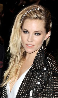 Hair Accessories Got Cool: How To Do Them Right - Sienna Miller with a spiked headband from InStyle.com