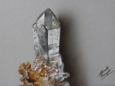 Hyaline quartz DRAWING by Marcello Barenghi by marcellobarenghi on DeviantArt
