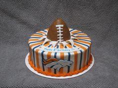 Denver Bronco's themed cake