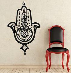 Wall Decals Yoga Mandala Fatima Hand Hamsa Namaste Indian Buddha Decal Vinyl Sticker Home Decor Bedroom Interior Design Art Mural MS542