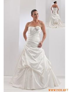 Elegant Strapless Princess wedding dresss in ivory 2012