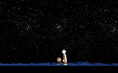 Why go CAMPING IN VIRGINIA or anywhere else? .... To look around at your world.... to Look Up at Worlds.... #DdO:) - https://www.pinterest.com/vectressgs/camping-in-virginia/ - Light Pollution is often further away when you #CAMP #UNDER the #STARS. Photo: Calvin and Hobbes, by Bill Watterson.