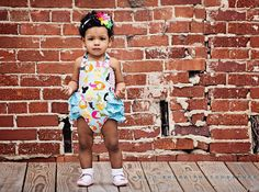 Custom Boutique Ruffled Sunsuit in Blue by JustSewStinkinCute, $34.00
