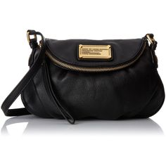 Marc by Marc Jacobs Classic Natasha Shoulder Bag (2.465 NOK) found on Polyvore featuring bags, handbags, shoulder bags, pebbled leather handbag, cross body, crossbody handbags, marc by marc jacobs and marc by marc jacobs purse