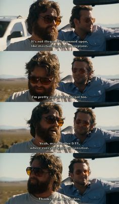 "The Hangover. ""Thanks a lot, Bin Laden."""