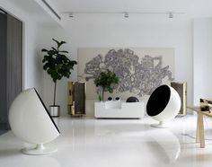 M-ydeas // Decoration d'interieur: Monday Moodbaord! Déco White, Black & Gold