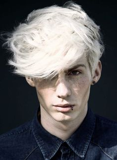 freckles, white hair, bleach blonde, noah, blue, pale, muted colors, boy, guy, man