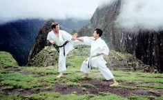 Con el Sensei Hirokazu kanazawa en Macchu Picchu,Cuzco, Peru