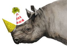Rhino party hats, Image 4 of Ohh Deer Rufus Greeting Card February 2015 Happy Birthday Images, Birthday Pictures, Birthday Messages, Happy Birthday Wishes, Birthday Greetings, It's Your Birthday, Card Birthday, Party Animals, Animal Party