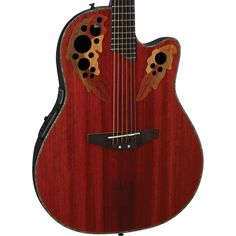 Buy Ovation Celebrity Deluxe Plus CC44 African Padauk Mid Depth Bowl Acoustic Electric Guitar CC44-PD at ZoZoMusic.com