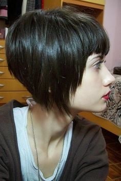 Inverted Bob - want it again. without the fringe