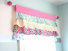 ruffle valence for beginners...cute for a girls bedroom