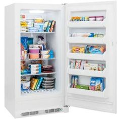 frost free upright freezer in white