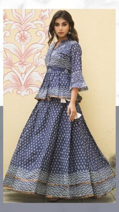 Lengha Blouse Designs, Lehenga Saree Design, Fancy Blouse Designs, Stylish Dress Designs, Designs For Dresses, Stylish Dresses, Indian Long Dress, Party Wear Indian Dresses, Indian Fashion Dresses