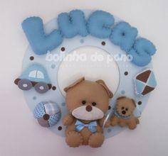 Enfeite Porta Maternidade Urso Brinquedos - Bolinha de Pano