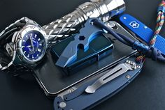 misterS edc 5.1.13 - wins prettiest edc award; the blue keyton and zippo look so good next to each other, and that atwood dark stripes paracord looks awesome too