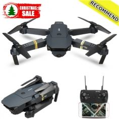 Eachine E58 WIFI FPV With 2MP Wide Angle Camera High Hold Mode Foldable RC Drone Quadcopter RTF-Christmas Sales