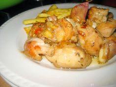 LAS RECETAS DE MAMA ROSA: Pollo en salsa de cebolla y ajos