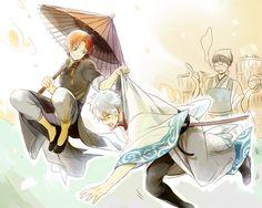 Kamui, Shimura Shinpachi, and Sakata Gintoki Sakamoto Tatsuma, Kamui Gintama, Gintama Wallpaper, Otaku, Comedy Anime, Space Pirate, Okikagu, What Is Like, Peace And Love