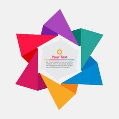 Origami frame in star form Free Vector Leaflet Design, Graphic Design Layouts, Brochure Design, Branding Design, Web Design, Logo Design, Web Background Image, Banner Background Hd, Infographic Template Free Download