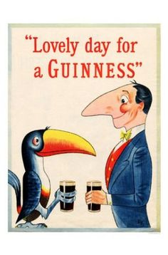 VINTAGE RETRO METAL SIGN ADVERTISING PLAQUE TOUCAN LOVELY DAY FOR A GUINNESS FAB