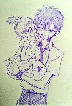 Nene e Amane (Jibaku Shounen Hanako-kun) Manga Anime, Anime Art, Stray Dogs Anime, Identity Art, Atticus, Cute Love, Cute Drawings, Anime Characters, Dark Anime