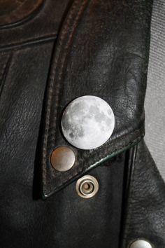 Pleine lune photo 32mm arrière broches badge