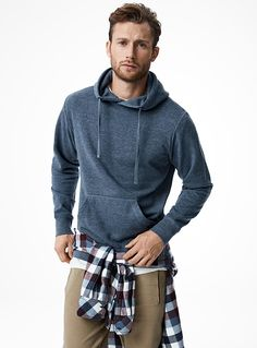 Le 31 Pouch-Pocket Hoodie in Blue