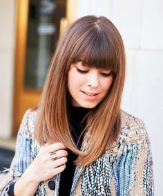 Exceptional Full Fringe Long Hairstyles for Women to Reach Perfection