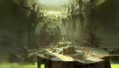 Guild Wars 2 concept art, Ruan Jia on ArtStation at https://www.artstation.com/artwork/8kgN6