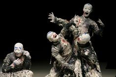 Butoh-this Japanese dance finds beauty in the darkness..I want to see a performance one day would be quite an experience