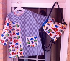 Bata escolar naii + mochila mini pandielleando