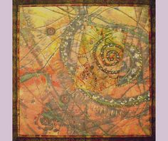 """ART QUILT: Play It Again Sam - """"Synthesis"""" SAQA touring show, Canada 2008-2010 by Kate Madeloso"""