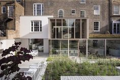 Diaphanous Georgian House extension in Mile End, London by David Mikhail Architects