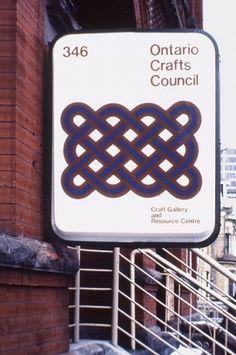 Burton Kramer – Ontario Crafts Council signage