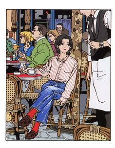 This artwork from Hisashi Eguchi reminds me of Herge's style: clean lines.