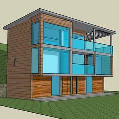 Upside down house, Somerset © O2i Design Limited  All rights reserved #newbuild #lowcarbonliving #architecturaldesign #o2idesign