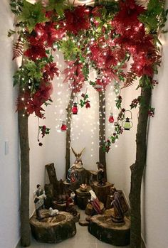 Best Holiday Christmas Home Decorating Ideas Christmas Crib Ideas, Diy Christmas Decorations Easy, Rustic Christmas, All Things Christmas, Christmas Home, Christmas Holidays, Christmas Crafts, Christmas Ornaments, Christmas Nativity Scene