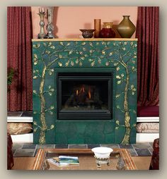 Moorish Tiles for Sale | Arabesque fireplace - Moroccan mosaic ...