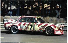 UFO BMW 3.0CSL CSL LUIGI RACING DU MANS 1977 PHOTOGRAPH JEAN XHENCEVAL SPARTACO Steve Mcqueen Le Mans, Luigi, Bentley Speed, Bmw Touring, 24 Hours Le Mans, Jochen Rindt, Bmw E9, Ford Gt40, Art Cars